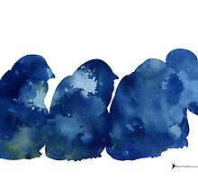 Penguins silhouette watercolor poster for sale by Joanna Szmerdt