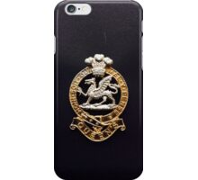 Queens Regiment Cap Badge iPhone Case/Skin
