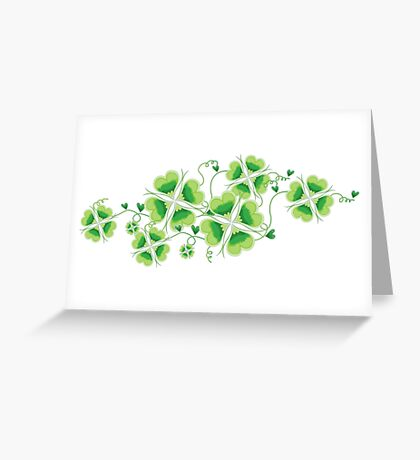 Clovers - St Patricks Day Greeting Card