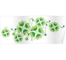 Clovers - St Patricks Day Poster