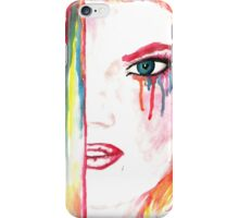 Watercolor drawing wit ginger girl iPhone Case/Skin