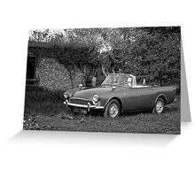 Sunbeam Alpine Greeting Card