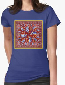 Quilt Block One Womens Fitted T-Shirt