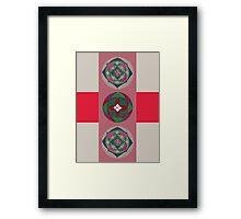 tantra wheel 3 red Framed Print