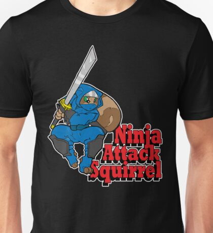 Ninja Attack Squirrel (DARK) Unisex T-Shirt