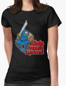 Ninja Attack Squirrel (DARK) Womens Fitted T-Shirt
