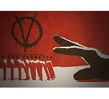 V for Vendetta Photographic Print