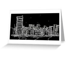 The Night Street.  Greeting Card