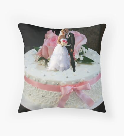 The Ultimate Wedding Cake Topper Throw Pillow