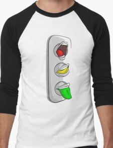 Traffic Lips Men's Baseball ¾ T-Shirt