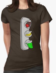 Traffic Lips Womens Fitted T-Shirt
