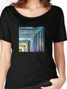 Abstract Bismuth Women's Relaxed Fit T-Shirt