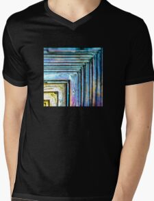Abstract Bismuth Mens V-Neck T-Shirt