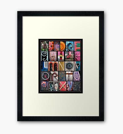 Coloured Alphabet Print Framed Print