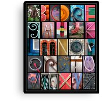 Coloured Alphabet Print Canvas Print