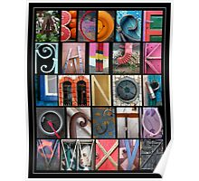 Coloured Alphabet Print Poster