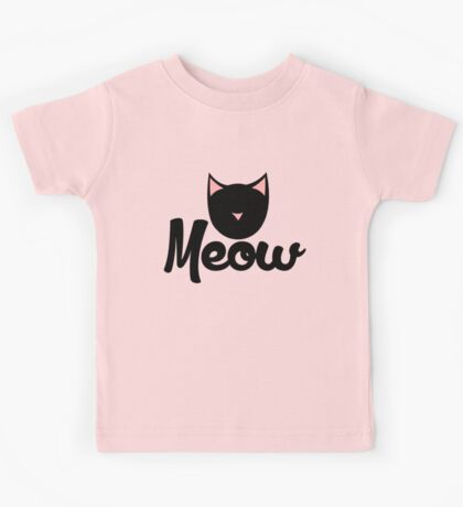 MEOW black cat Kids Tee