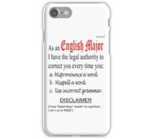 English Major iPhone Case/Skin