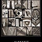 Alphabet Monochrome Poster by Abba Richman