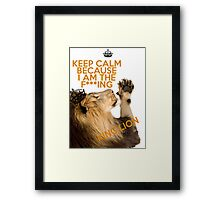 Lion Keep Calm Framed Print