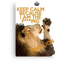 Lion Keep Calm Canvas Print