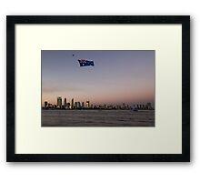 Australia Day in Perth Framed Print