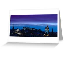 Edinburgh skyline at dusk Greeting Card