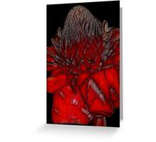 Fractalius Torch Ginger Greeting Card