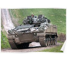 British Army Warrior Infantry Fighting Vehicle Poster
