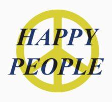 Peace Happy People Kids Tee
