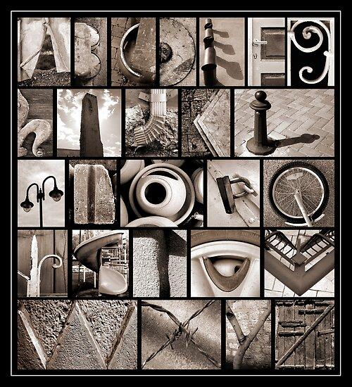 Alphabet Monochrome Print by Abba Richman