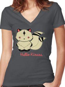 Hello Kirara Women's Fitted V-Neck T-Shirt