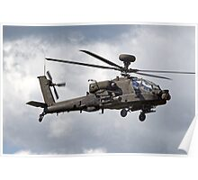 British Army Air Corps AugustaWestland WAH-64D AH.1 Helicopter Poster