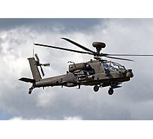 British Army Air Corps AugustaWestland WAH-64D AH.1 Helicopter Photographic Print