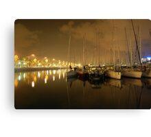 Barcelona Harbour Canvas Print