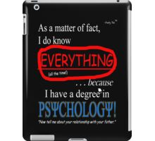 Psychology Degree (Dark Backgrounds) iPad Case/Skin