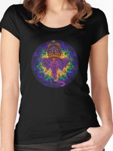 Ganesha Psychedelic Art Women's Fitted Scoop T-Shirt