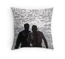 Brothers at Sunset. Throw Pillow