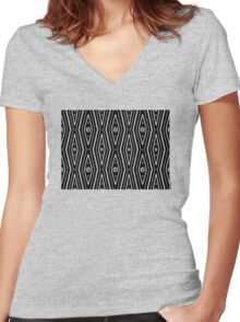 Bardi dancers / Back In Black - 3 Women's Fitted V-Neck T-Shirt