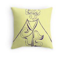 Vesuvius + Venus = Love Throw Pillow