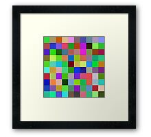 Every color is another moment in life Framed Print