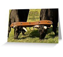 ~ Matthew 11:30 ~ For My yoke is easy, and My load is light ~ Greeting Card