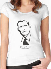 Debonair (& Shark Botherer) Women's Fitted Scoop T-Shirt