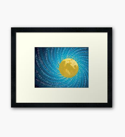 Abstract night sky Framed Print