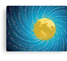 Abstract night sky Canvas Print