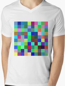 Yesterday blue, Today green, Tomorrow Purple Mens V-Neck T-Shirt