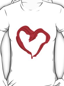 Heart shaped red scarf T-Shirt