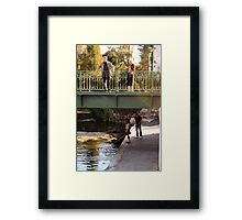 above and below the bridge Framed Print