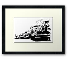 Sherlock - BORED (version without color) Framed Print