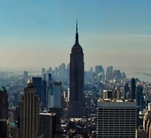 Panoramic view of New York color version by Jacqueline Moore